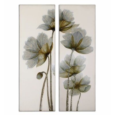 Uttermost Floral Glow by Grace Feyock 2 Piece Original Painting on Canvas Set