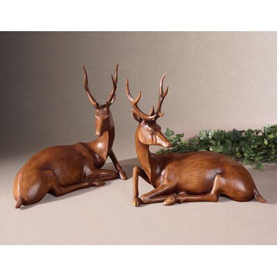 Uttermost 2 Piece Buck Figurine Set