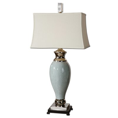 """Uttermost Rossa 39"""" H Table Lamp with Bell Shade"""