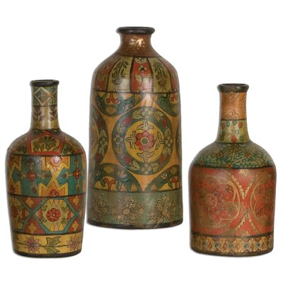Uttermost 3 Piece Sachi Vase Set