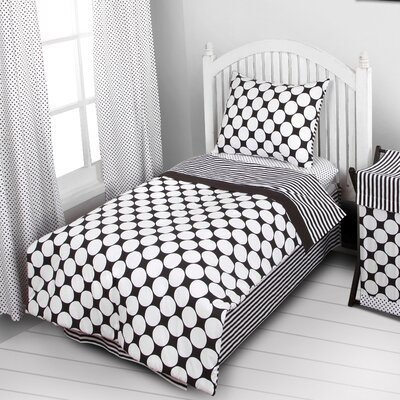 Bair Dots/Pin 4 Piece Toddler Bedding Set Color: Black/White