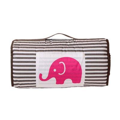 Elephants Nap Mat Color: Pink/Grey