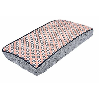 Olivia Tribal Dot Cross Quilted Changing Pad Cover