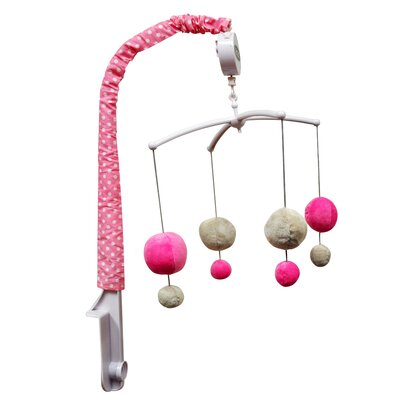 Dots Musical Mobile Color: Grey/Pink