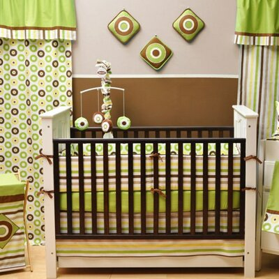 Bacati Mod Dots and Stripes 10 Piece Crib Bedding Set