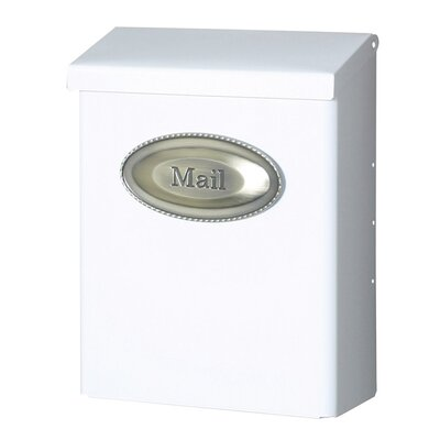 Designer Locking Wall Mounted Mailbox Color: White