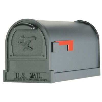 Arlington Post Mounted Mailbox Color: Black