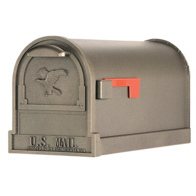 Arlington Post Mounted Mailbox Color: Bronze