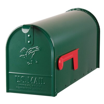 Elite Post Mounted Mailbox Color: Green