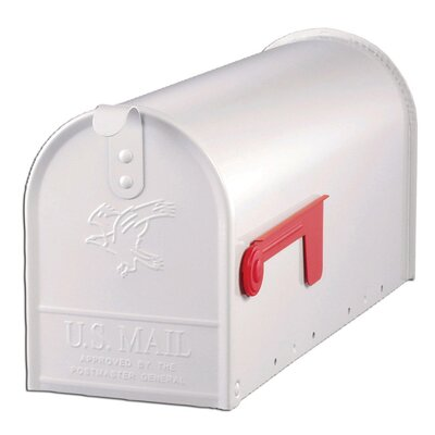 Elite Post Mounted Mailbox Color: White
