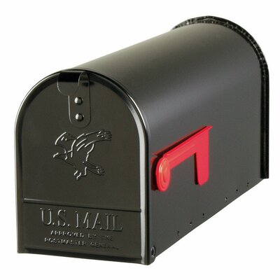 Elite Post Mounted Mailbox Color: Black