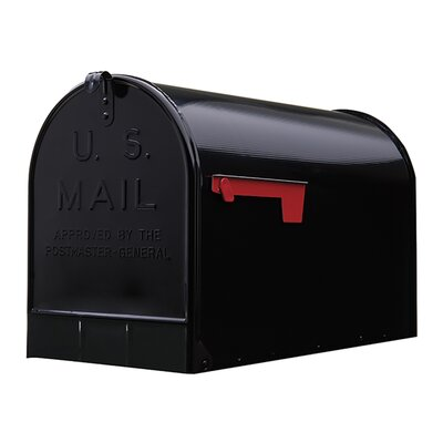 Stanley Post Mounted Mailbox Color: Black