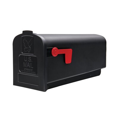 Parsons Post Mounted Mailbox Color: Black