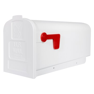 Parsons Post Mounted Mailbox Color: White