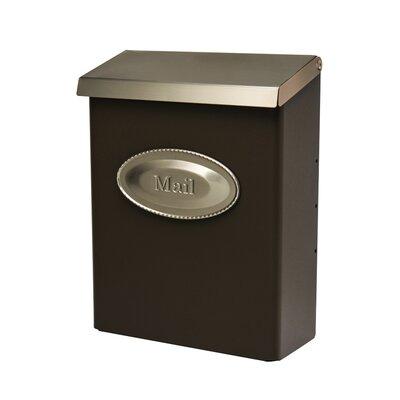 Designer Locking Wall Mounted Mailbox Mailbox Color: Venetian Bronze and Satin Nickel