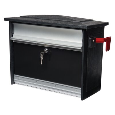 Mailsafe Locking Wall Mounted Mailbox Color: Black