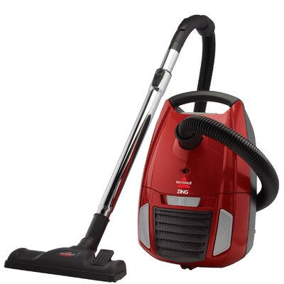 Zing Bagged Canister Vacuum Color: Red / Black