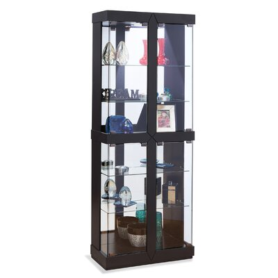 Rohe II Lighted Curio Cabinet