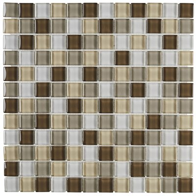 """Geneva 12"""" x 12"""" Glass Mosaic Tile in Classic Downtown Oasis"""