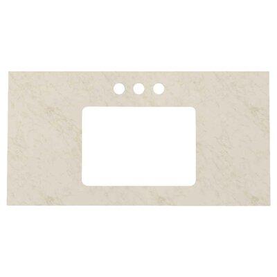 "Riordan 36"" Single Bathroom Vanity Set Sink Finish: Biscuit, Faucet Mount: Single Hole, Base Finish: White"