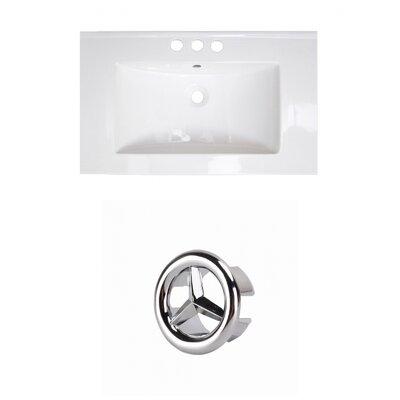 "Roxy 32"" Single Bathroom Vanity Top Faucet Mount: 4"" Centers, Overflow Cap Color: Black"