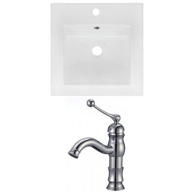 "Ceramic 17"" Single Bathroom Vanity Top"