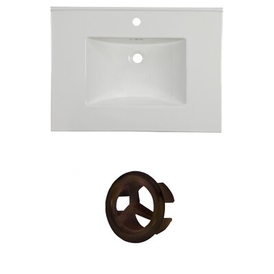 "31"" Single Bathroom Vanity Top Faucet Mount: Single, Overflow Cap Color: Oil Rubbed Bronze"