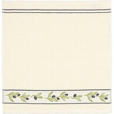 Kracht Frottier Küchentuch Olivenzweige aus Baumwolle