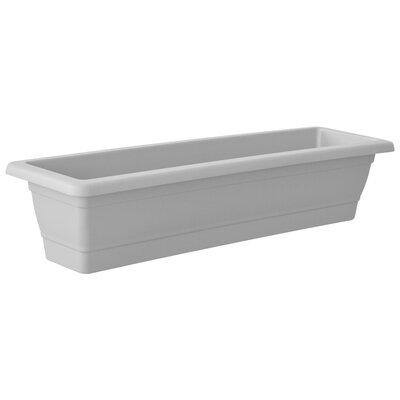 """Rimon Plastic Planter Box Color: White, Size: 7.5"""" H x 39.4"""" W x 7.9"""" D"""