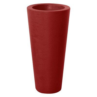 Almog Elegant Pot Planter Color: Red