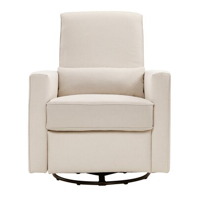 Piper Reclining Swivel Glider Upholstery: Cream
