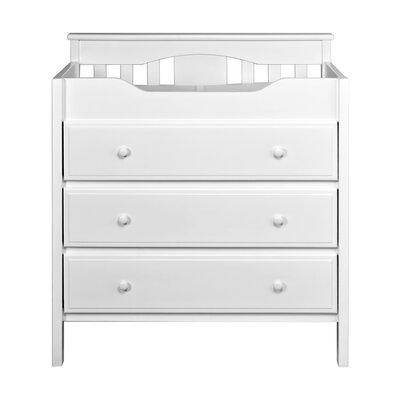 Jayden 3 Drawer Changing Dresser Color: White