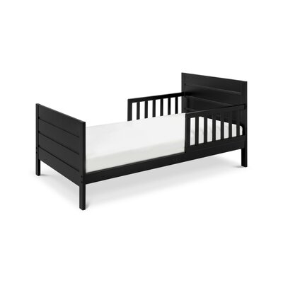 Modena Toddler Panel Bed Color: Ebony Black