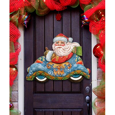 Deco Speedy Delivery Santa Hanging Figurine