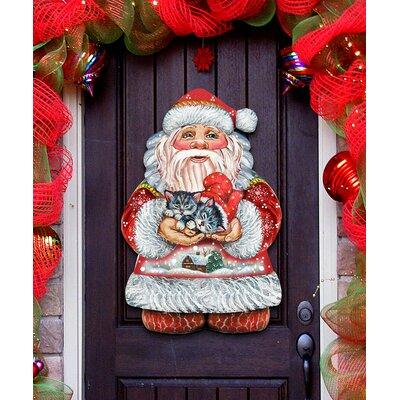 Deco Perfect Pair Santa Hanging Figurine