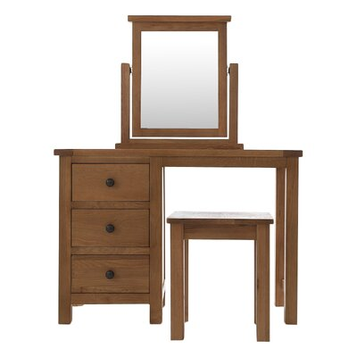 Thorndon Block Dressing Table with Mirror