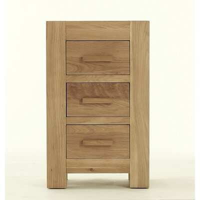 Thorndon Block Nightstand with 3 Drawers