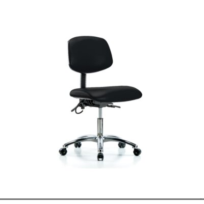 Mandy Desk Height Ergonomic Office Chair Color (Upholstery): Black, Casters/Glides: Casters, Tilt Function: Not Included
