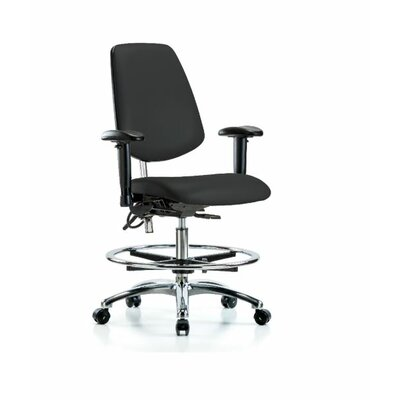 Vincent Ergonomic Office Chair Color (Upholstery): Blue, Casters/Glides: Glides, Tilt Function: Included