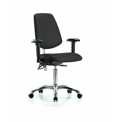 Nolan Ergonomic Office Chair Color (Upholstery): Black, Casters/Glides: Glides, Tilt Function: Included