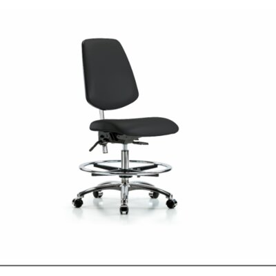 Miah Medium Bench Office Chair Color (Upholstery): Black, Casters/Glides: Casters, Tilt Function: Included