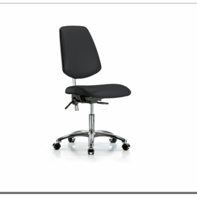 Evie Desk Height Ergonomic Office Chair Color (Upholstery): Black, Casters/Glides: Casters, Tilt Function: Included
