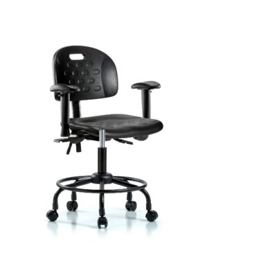 Elizabeth Round Tube Base Office Chair Tilt Function: Not Included