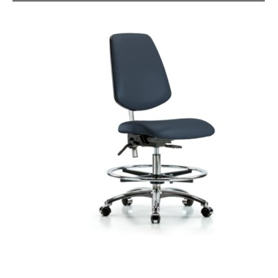Miah Medium Bench Office Chair Casters/Glides: Casters, Color (Upholstery): Colonial Blue, Tilt Function: Included