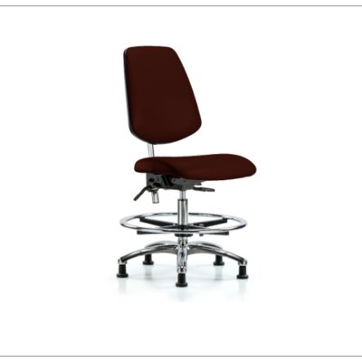 Miah Medium Bench Office Chair Color (Upholstery): Burgundy, Casters/Glides: Glides, Tilt Function: Included