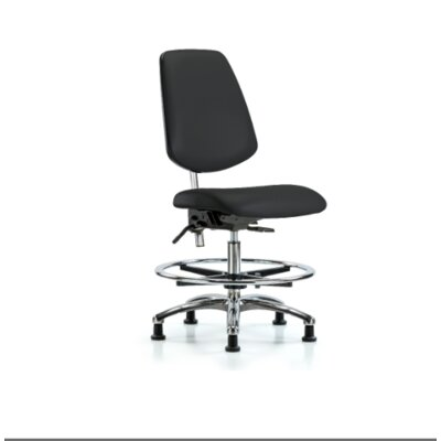 Miah Medium Bench Office Chair Color (Upholstery): Black, Casters/Glides: Glides, Tilt Function: Included