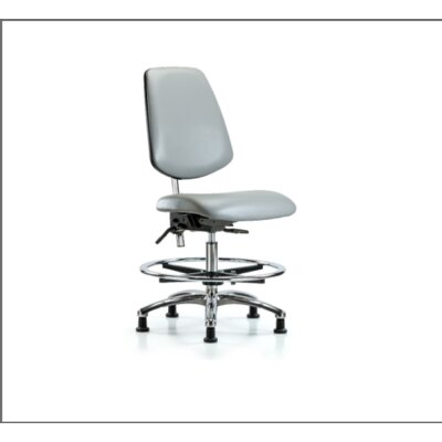 Miah Medium Bench Office Chair Color (Upholstery): Adobe, Casters/Glides: Glides, Tilt Function: Included