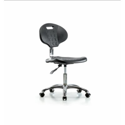 Jaylene Desk Height Office Chair Casters/Glides: Casters