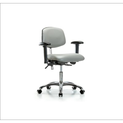 Desk Height Ergonomic Office Chair Casters/Glides: Casters, Color (Upholstery): Dove, Tilt Function: Included
