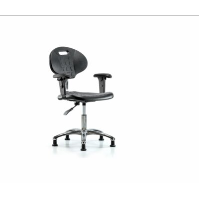 Kelsi Desk Height Office Chair Casters/Glides: Glides